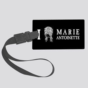 I Love (Wig) Marie Antoinette Large Luggage Tag
