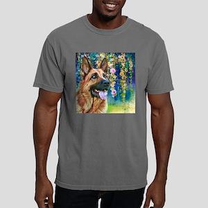German Shepherd Painting Mens Comfort Colors Shirt