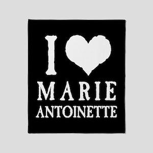 I Love Marie Antoinette Throw Blanket