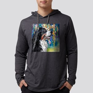 Bernese Mountain Dog Painting Mens Hooded Shirt