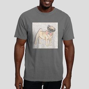 Hipster Pug Mens Comfort Colors Shirt