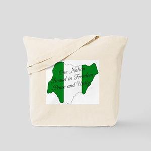 Nigerian National Anthem Tote Bag