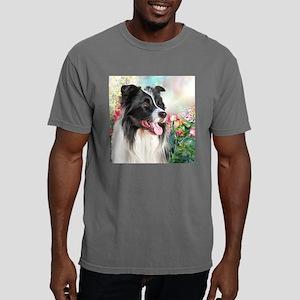 Border Collie Painting Mens Comfort Colors Shirt