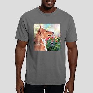 Basenji Painting Mens Comfort Colors Shirt