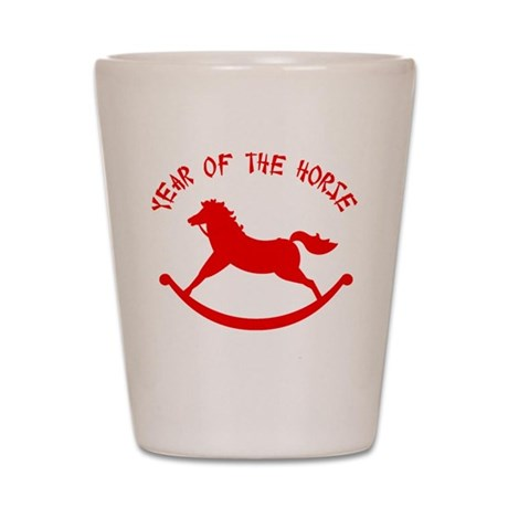 Year Of The Horse Shot Glass