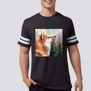 Shiba Inu Painting Mens Football Shirt