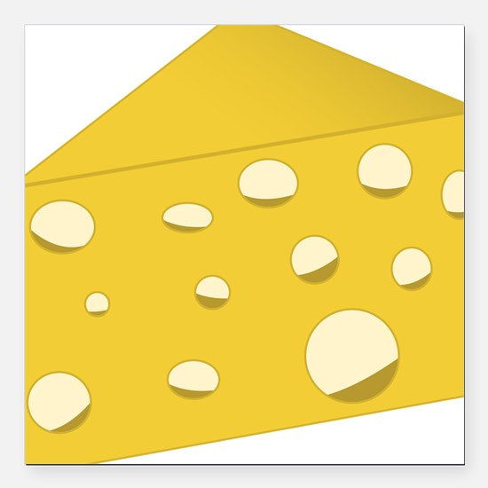 """Swiss Cheese Square Car Magnet 3"""" x 3"""""""