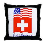 Swiss American Throw Pillow