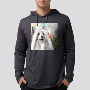 Chinese Crested Painting Mens Hooded Shirt