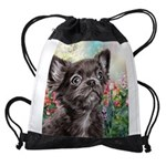 Chihuahua Painting Drawstring Bag