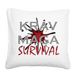 Krav Maga Square Canvas Pillow