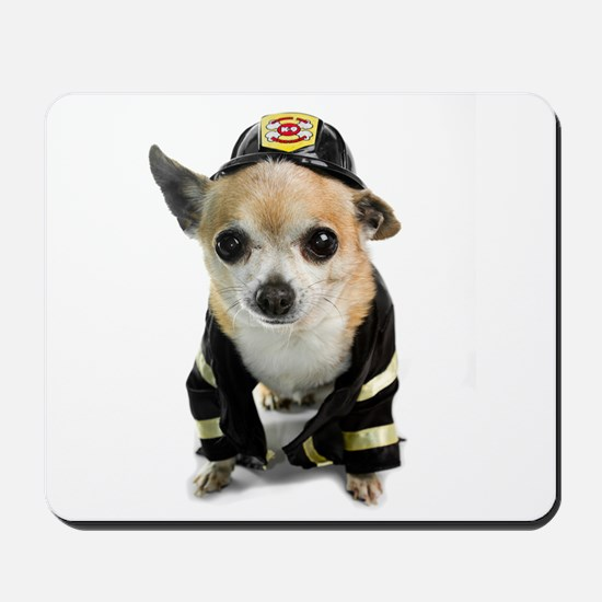 Firefighter Chihuahua Mousepad