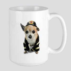 Firefighter Chihuahua Large Mug