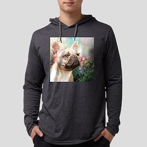 French Bulldog Painting Mens Hooded Shirt