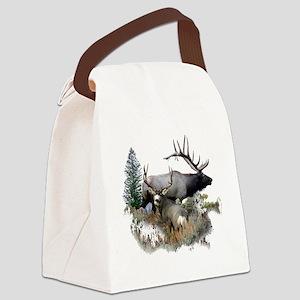 Buck deer bull elk Canvas Lunch Bag