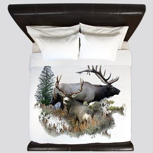 Buck deer bull elk King Duvet