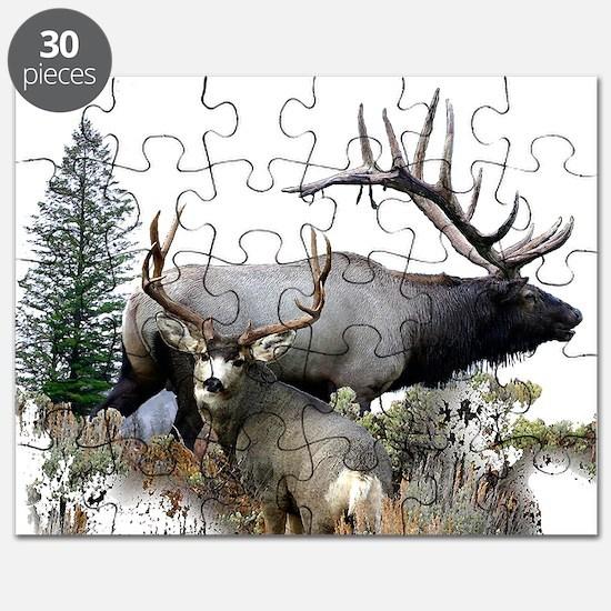 Buck deer bull elk Puzzle