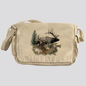 Buck deer bull elk Messenger Bag