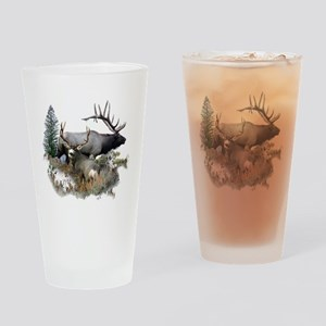 Buck deer bull elk Drinking Glass