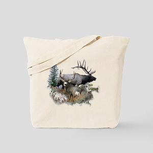 Buck deer bull elk Tote Bag