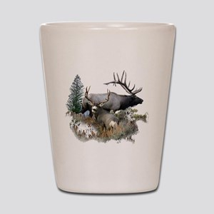 Buck deer bull elk Shot Glass