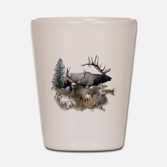 Buck deer bull elk Shot Glass