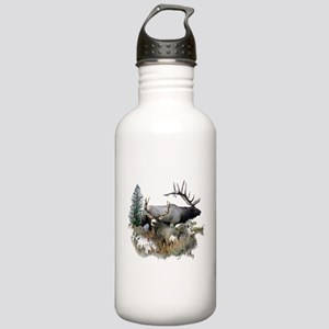 Buck deer bull elk Stainless Water Bottle 1.0L