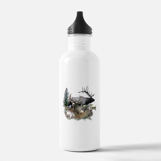 Buck deer bull elk Water Bottle