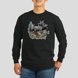 Buck deer bull elk Long Sleeve Dark T-Shirt