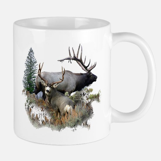 Buck deer bull elk Mug