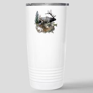 Buck deer bull elk Stainless Steel Travel Mug