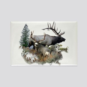 Buck deer bull elk Rectangle Magnet
