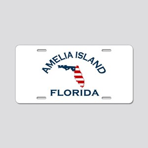 Amelia Island - Map Design. Aluminum License Plate