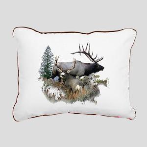 Buck deer bull elk Rectangular Canvas Pillow