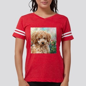 Poodle Painting Womens Football Shirt