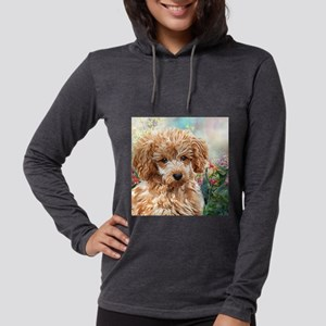 Poodle Painting Womens Hooded Shirt