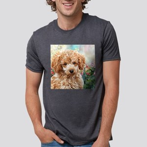 Poodle Painting Mens Tri-blend T-Shirt