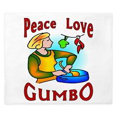Peace Love Gumbo King Duvet