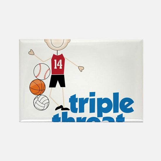 Triple Threat Rectangle Magnet