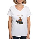 Festina Lente Women's V-Neck T-Shirt