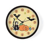 Kid Halloween Wall Clock