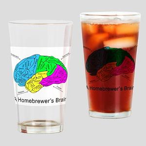 A Homebrewer's Brain Drinking Glass