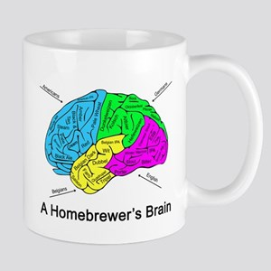 A Homebrewer's Brain Mug