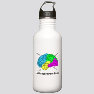 A Homebrewer's Brain Stainless Water Bottle 1.0L