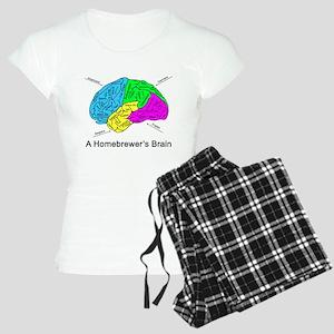 A Homebrewer's Brain Women's Light Pajamas