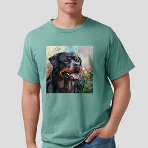 Rottweiler Painting Mens Comfort Colors Shirt