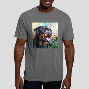 Rottweiler Painting Mens Comfort Colors Shirt
