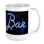 neon light, bar sign Large Mug