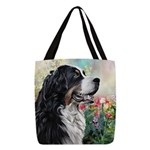 Bernese Mountain Dog Painting Polyester Tote Bag