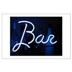 neon light, bar sign Large Poster